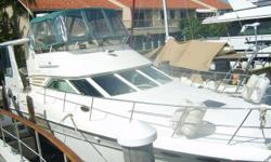 1997 Sea Ray 420 Aft Cabin - Excellent Condition - Powered by Twin Diesel CAT's, RAYMARINE Electronics - GPS, Autopilot, Radar, etc. 3 stateroom / 2 head layout.Owner Moving Up, looking to move quickly, CALL WITH AN OFFER!!!! Engine(s): Fuel Type: Diesel