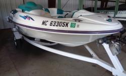 New upholstery and new mooring cover, 110hp motor. On single axle trailer. Boat cover; Swim platform;