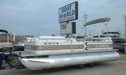 1997 Smokercraft 20' Pontoon & 40HP Johnson 4-Stroke EFI. Motor Runs Great! This Pontoon Has Bench Seating With Storage, Flip/Flop Seat With Storage, Aft Seating With More Storage, Table, Captain's Seat, Multiple Cup Holders, Rod Holders, Docking Lights,