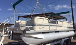1997 Starcraft Stardeck 200 This 20 foot Pontoon is ready to go! Bimini Top, Cover, Merc 75HP engine with low hours. Stereo system and closet for potti. Easy step up trailer with front deck. Great for fishing or family fun. Inside cushions have some