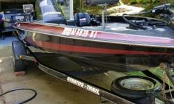 1997 Stratos 268 Stratos 16 Bass Boat with Stratos trailer and Evinrude 115 Outboard motor Well maintained and in perfect running condition Fish Finder 24-volt Bow-mounted Motor guide trolling motor with Foot Control Cranking battery plus tandem 12-volt