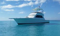 This fantastic 43 Convertible is loaded with upgrades and ready to go.She features the largest bridge in her class combined with frameless windows giving her the look and feel of a much newer boat.   Furuno NavNet Radar and Sounder