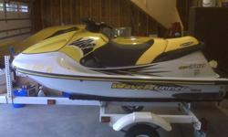 I am selling my 1997 Yamaha GP 760 with Shorlander 2001 Trailer. Everything is in extremely good condition. Few Minor Scratches, Newly ReFinished Seat, All Gauges work. Reason Im selling is because I have a boat now, and I cant ride both of them at the