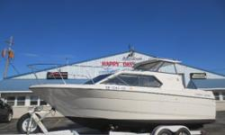 1998 Bayliner 2452 is backed by a powerful Mercruiser 305. This boat comes equipped with a Hard Top, Tandem Axle Trailer, Stereo/CD/Speakers, Garmin Fish Finder/Depth Finder/GPS, Microwave,AC/Heat, Dual Batteries& Charger, Shore Power w/Cord, Trim Tabs,