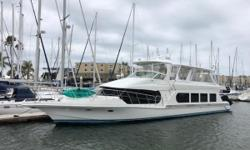 Ideal Yacht for Entertaining, Coastal Cruising, or Live-aboard. LLC Owned Extensive Refit in 2014 Large open Main Salon w Galley Aft Master Cabin w King Berth and en-suite Head w Stall Shower Master Cabin w Sliding Door to Swim Step VIP Berth Forward w