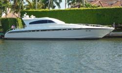 2nd Owner since 2003 Starboard Engine has complete Major Overhaul in 2013 Port Engine is replaced with new in 2013 both with low hours New Deck Cushions Crew Cabin and Head New Carpeting Retractable Roof All photos were taken Feb 15th 2017