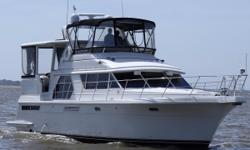 This 1998 Carver 445 Aft Cabin Motor Yacht is powered by twin 502XLi (injected) Crusader's with 640 hours. She has been professionally maintained mechanically, polished and waxed regularly, and is in very nice condition. Her many features