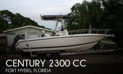 Actual Location: Fort Myers, FL - Stock #090877 - Excellent condition!1998 Century 2300 Center Console Everything you need to get out on the water and have some fun without breaking the bank. Century is known for a solid build and is highly rated all