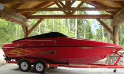 Sport/Ski Cruise or Camp. Like New -- Super Clean inside & out! 454 Magnum/385 hp Mercruiser Bravo 1 Outdrive. Fuel Inj. Marine radio and quality fold down antennae. Thru Hull Exhaust & Silent Choice. Plush upholstered, Full Cabin