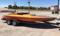 1978 Custom Mandela 21 1978 Mandela 21ft BBC Power boat Great looking Mandela 21 with a Chevrolet 454 Dual 750 Holley Carbs New Calgo steering trailer has new tires AM-FM Fresh Water Boat Cover This boat is great for any classic boat lover to enjoy for