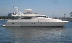 From the pedigree shipyard of Ferretti comes the 1998 motoryacht Diamond Girl. Her unique layout consists of 4 staterooms and 4 heads plus separate crew quarters that even include a lounge area. Diamond Girl is equipped with a lengthy list of options that