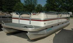 NEW Winter Price ONLY $4,995! Here is a very nice pontoon in excellent condition! This boat is your opportunity to be on the water with your friends and family in style at a fraction of the cost of buying new. Powered by a 1998 Mercury 40 2-Stroke, it