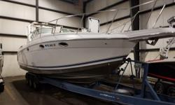 """Popular Formula 31 PC on a trailer! With a Generator and Twin 7.4 MPI's. This 31 PC has all the """"right"""" equipment! Trades considered. CANVAS BIMINI TOP (TAN) CAMPER CANVAS DECK BACK ARCH ELECTRIC WINDLASS FENDERS & LINES TRANSOM SHOWER ELECTRICAL 30 AMP"""