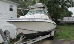 1998 Fountain Express Cruiser. This is an amazing 29 foot speed cruiser in excellent condition. It has twin 200HP mercury outboard motors, AM-FM with CD, navigation, sleeps 2, galley, depth finder, Bimini top, fiberglass hull, fish finder and trailer is