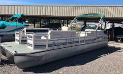 Includes Full Mooring Cover, Built-in Cooler, Depth Finder, Stereo w/ Speakers, Rear Swim Ladder.This Tri-Toon is a great value and ready to hit the water!!Does not include a trailer but one is available for and additional cost.Give us a call today for