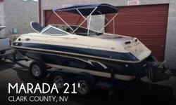 Actual Location: Boulder City, NV - Stock #085450 - Excellent condition!! Looks and runs great!!*** 1998 Marada MX3 Weekender ***What a wonderful boat this is for cruising, entertaining, skiing, or even taking out for the weekend. This Cuddy cabin design