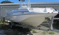 Located in Melbourne is this versatile 23 foot fishing center console. Powered by a Mercury 250 it can get to where you want to be very quickly. The Monterey 230 has the feel and room like a deck boat and the fishing and water sport capabilities of a