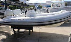 Nautica 139 widebody with 50 HP Honda with power tilt/trim New tubes five years ago Honda completely disassembled new seals, gaskets, trim motor and any other parts that showed wear were replaced in 2017 Honda awlgrip painted to color match the tubes on
