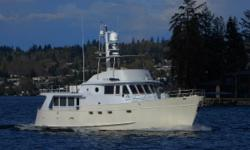New price January 20, 2016. Time to have a look at this very capable LRC US built steel construction; robust raised pilothouse with Portuguese bridge and fly bridge design; twin Caterpillars with protected running gear and stabilizers; and redundant
