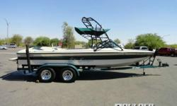 350 Mag MPI Tournament Ski with 315 HP At Sanger Boats, craftsmanship is still an art. They still build their wakeboard boats and ski boats with precision and care, one at a time. Lake ready boat in excellent condition. Only 517 hours. Note: Hour meter
