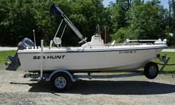 17 Ft. Center Console, 1996 115 HP Yamaha 115TLRU 2-Stroke, Bimini Top, Boat Cover, Lowrance HDS5 Combo Unit, SS Prop, Cooler Seat, Minn Kota 24 Volt Remote Control Trolling motor with new deep cycle batteries, 2008 EZ Loader Trailer, Above Average