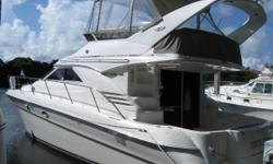 Highly Desirable Diesel Sedan Bridge…Excellent Condition!   This 400 Sedan Bridge is widely known for her roomy upscale accommodations and first class amenities. She has the preferred 2 stateroom 2 head with fully appointed galley down