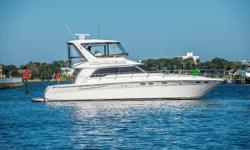 JUST LISTED MORE DETAILS SOON! The 480 Sea Ray offers plenty of luxurious living space indoors in the well-appointed cabin, and outside on the stunning command bridge, easily accessed up a molded stairway. Nominal Length: 48' Length Overall: 48.3' Max