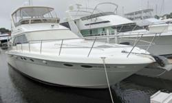Meticulous care is the hallmark of this 1998 Sea Ray 480 Sedan Bridge. She is a Fresh Water, Two Owner Boat that has made Lake St. Clair and Lake Erie home. She has always been kept in heated storage for the winter months.Featuring three staterooms, a