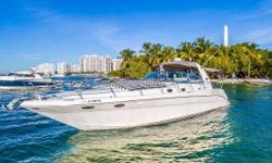 1998 Sea Ray 400 Sundancer DIESEL !!! DIESEL !!! DIESEL !!! (w/ 2 x 350HP Caterpillar 3116 diesel Inboards) Overview The Sea Ray 400 Sundancer is a 44 foot express cruiser that is sporty, fast and has all the comfortsof home. As a sport yacht the