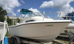 Recent New Boat Trade in Clean - Well Taken Care of - Runs Great - Lots of Power - Enclosure The weight of the boat is 3450 lbs. which does not include passengers, aftermarket boating accessories, or fuel.  Nominal Length: 21' Engine(s): Fuel Type: