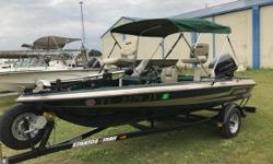 Well maintained and clean boat. Brand new Bimini and Hummingbird Helix 5 Chirp DI GPS G2 on console, Stainless Steel Prop, Water Fuel Filter Separator, new fuel sending unit, Spare tire with cover, Motorguide 46# Foot Control Trolling motor