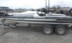 1998 Stratos 201 Pro Elite bass boat. This boat is in good shape for its age. Powered by a 2001 Mercury 225 l EFI motor, with a FURY prop. Comes with a  tandem axle Stratos trailer Has a Motor Guide Digital Tour 24v trolling motor and a Lowrance HDS5