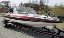 Here is a boat equipped to handle multiple freshwater leisure activities from fishing to water sports. Equipped with Lowrance electronics, a Minn Kota Maxxum trolling motor, bimini top, and powered by a Mercury 150 outboard. This dual-console vessel is in