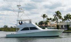 Unleashed has only had three owners since new. The current owner purchased her in 2014 and in 2010 the boat received a full complete Alexseal paint job. The port engine was rebuilt in 2013 and has less than 650 hours SMOH. The starboard engine was rebuilt