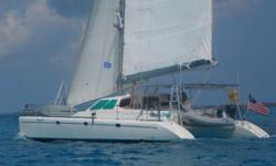 The Voyage line of catamarans is renowned for their double digit speed, innovative design features, head-turning good looks , and build quality that it second to none. Designed by Alexander Simonis, this South African built cat was built for both