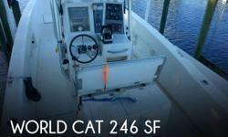 Actual Location: Fort Myers, FL - Stock #091595 - Fishing in luxury!This 1998 World Cat 246 SF has been REPOWERED with twin 4 stroke Mercury 150's. The hours are really low at 136 and the warranty is good until 2018. There is no doubt that World Cat is a