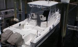 Vessel Walkthrough The 2610 features a 65 sq. ft cockpit complete with in-deck fishboxes and a transom livewell set up just to name a few of the many things this 26 offers. The helm deck area is set up with the helm to starboard and the cabin entry door