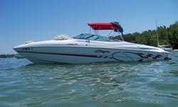 Call owner Bob @ 330-606-7849. Boss Package, Depth Finder, Compass, Aero Drop Down Bolster Seats, Trim On Throttle, Halon Fire Extinguishing System, Corsa Switchable Exhaust System, (2) Sets Stainless Steel Propellers: 23P 3 Blade @ 62MPH & 22P 4 Blade