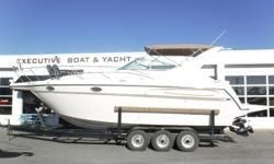 Vessel has ONLY been in fresh water! Twin MerCruiser 5.7L EFI, 260 hp engines, aprx 501 port hours, & aprx 504 starboard hours Twin Bravo II sterndrives w/counter-rotating aluminum props Metal Craft 3-axle trailer w/electric brakes, custom rims, side