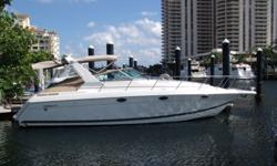 AccommodationsLike all of Formula's Performance Cruiser designs she is built on a constant deadrise deep-V hull with moderate beam and solid fiberglass construction.The mid-cabin interior will sleep six (6) and comes with an island berth in the forward