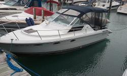 1985 Tiara 2700 Continental Call owner Tom @ 989-430-5666 or email tmrice(at)aol(dot)com. 1985 Tiara 2700 Continental - newly updated upholstery and seating, sleeps 4 in v-birth and aft cabin with custom built inner spring mattress. Galley includes 2