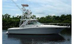 1999 37ft Sea Ray Express Cruiser/Sportfish. Second owner since 2003. This Yacht is loaded with extras and is like new. She boasts a 142 beam, that has ample cockpit area, with a new camper canvas. The custom tuna tower with controls gives this cruiser a