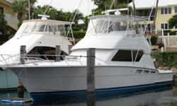 """Description For full and complete specificationsClick Here Introduction The """"Sea Trader"""" is an excellent example of a captain maintained 1999 50' Hatteras. The 3406 Caterpillars have just been rebuilt and she is ready to fish or travel anywhere. Complete"""