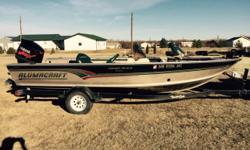Yamah 200 V-MAX 2Stroke, trailer, Minnkota 24V Terrova, full canvas cover, front and rear livewells, storage compartments and cargo nets. One owner, stored indoors. Good condition. Boat cover; Trolling motor;