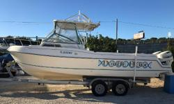 1999 Aquasport 245 Explorer, On The Florida / Alabama Gulf Coast We Make Boating Fun!!1999 Aquasport 245 EXPLORER TWIN Johnson 150 2 StrokesInstalled options* ALUMINUM TRAILER WITH SPARE TIRE* ANCHOR WINDLASS* COBIA TOWER* COCKPIT ENCLOSURE* DUAL BATTERY