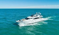 This Azimut 85 Ultimate (ELIZEE) was originally delivered to the U.S. when new. She spent a few years cruising the Med. and then BVI's until arriving back in Florida in 2016. The current owners have completed a major refit inside and out