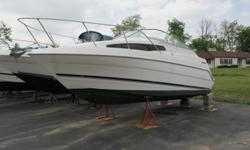 1999 Bayliner 2355 Cierra SunbridgePowered by a Mercruiser 5.0 V-8 with Alpha One stern drive. Drive just serviced with NEW impeller and seals. Cold water pressure systemBimini TopFull galley with refrigerator,Microwave & Stove, Marine toilet and shower,