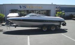 1999 Bayliner 2050, V-8, Tandem Axel, Sun top, depth finder, custom cover, one owner, stored Engine(s): Fuel Type: Gas Engine Type: Stern Drive - I/O Draft: 2 ft. 0 in. Beam: 8 ft. 0 in.