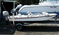 13 Ft Side Console, 1998 25 HP Honda 4-Stroke, Bimini Top, Garmin 440s Combo Unit, Bench and Cushions, Removable Gas Tank, Karavan trailer, Primarily Used in Fresh Water, Above Average Condition Beam: 5 ft. 5 in. Depth fish finder; Bimini top; Gps loran;