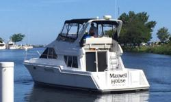 This boat has theversatility and comfort of a pilothouse. Nominal Length: 37' Length Overall: 40.1' Max Draft: 3.7' Engine(s): Fuel Type: Other Engine Type: Inboard Draft: 3 ft. 8 in. Beam: 13 ft. 3 in. Fuel tank capacity: 297 Water tank